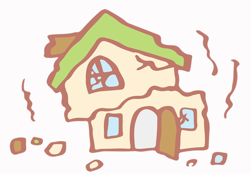 家が地震で揺れてる